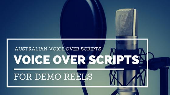 Australian Voice Over Scripts