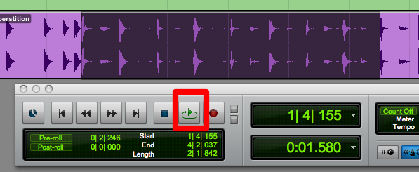 loop playback pro tools